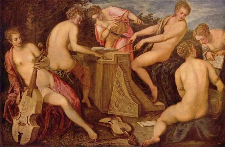 Women playing instruments - Tintoretto
