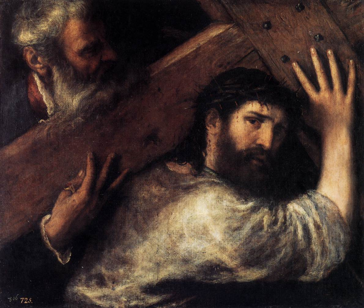 Jesus Carrying The Cross Painting Christ Carrying the Cross -
