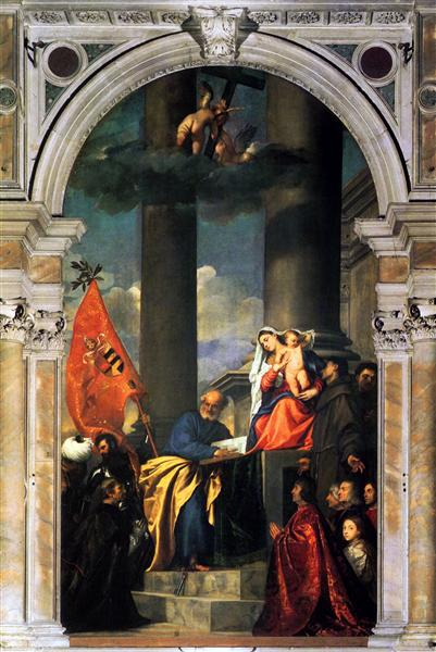The Madonna of the Pesaro Family, 1519 - 1526 - Titian