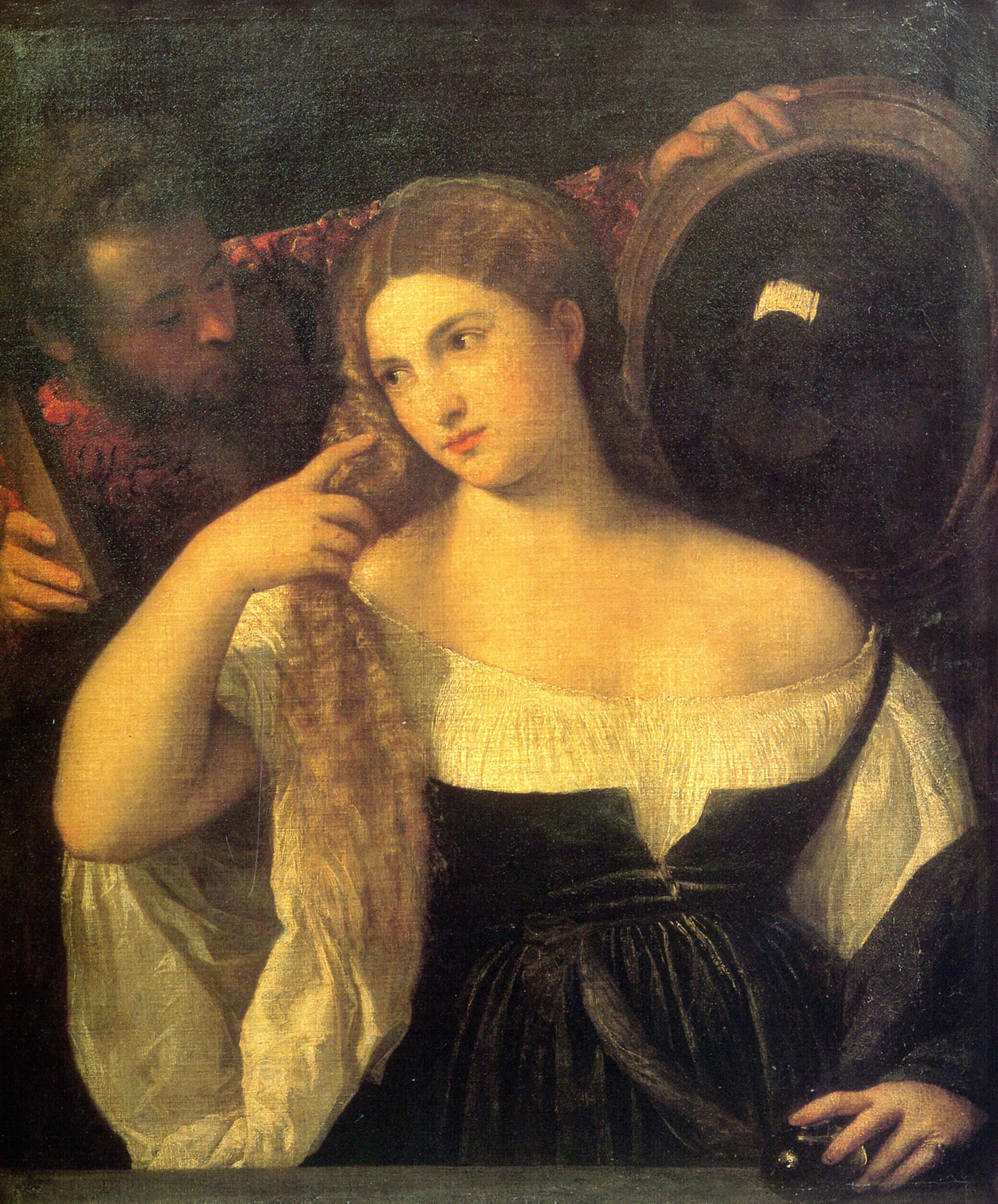 Vanitas 1515 titian for Venus au miroir