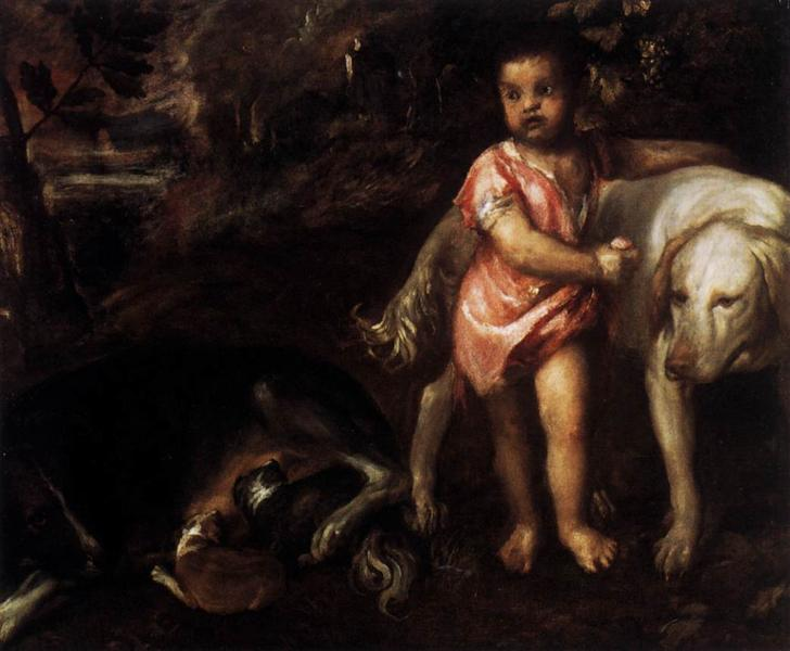 Youth with Dogs, 1575 - 1576 - Titian