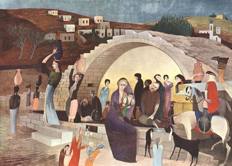 Mary's Well at Nazareth, 1908 - Tivadar Kosztka Csontvary