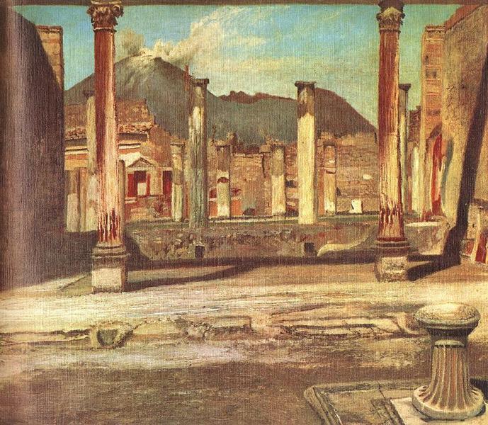 Pompeji Have (House of the Chirurgus with the Vesuv), 1898 - Tivadar Kosztka Csontvary