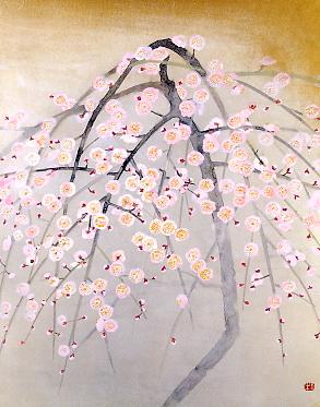 Pale Plum Tree - Okumura Togyu