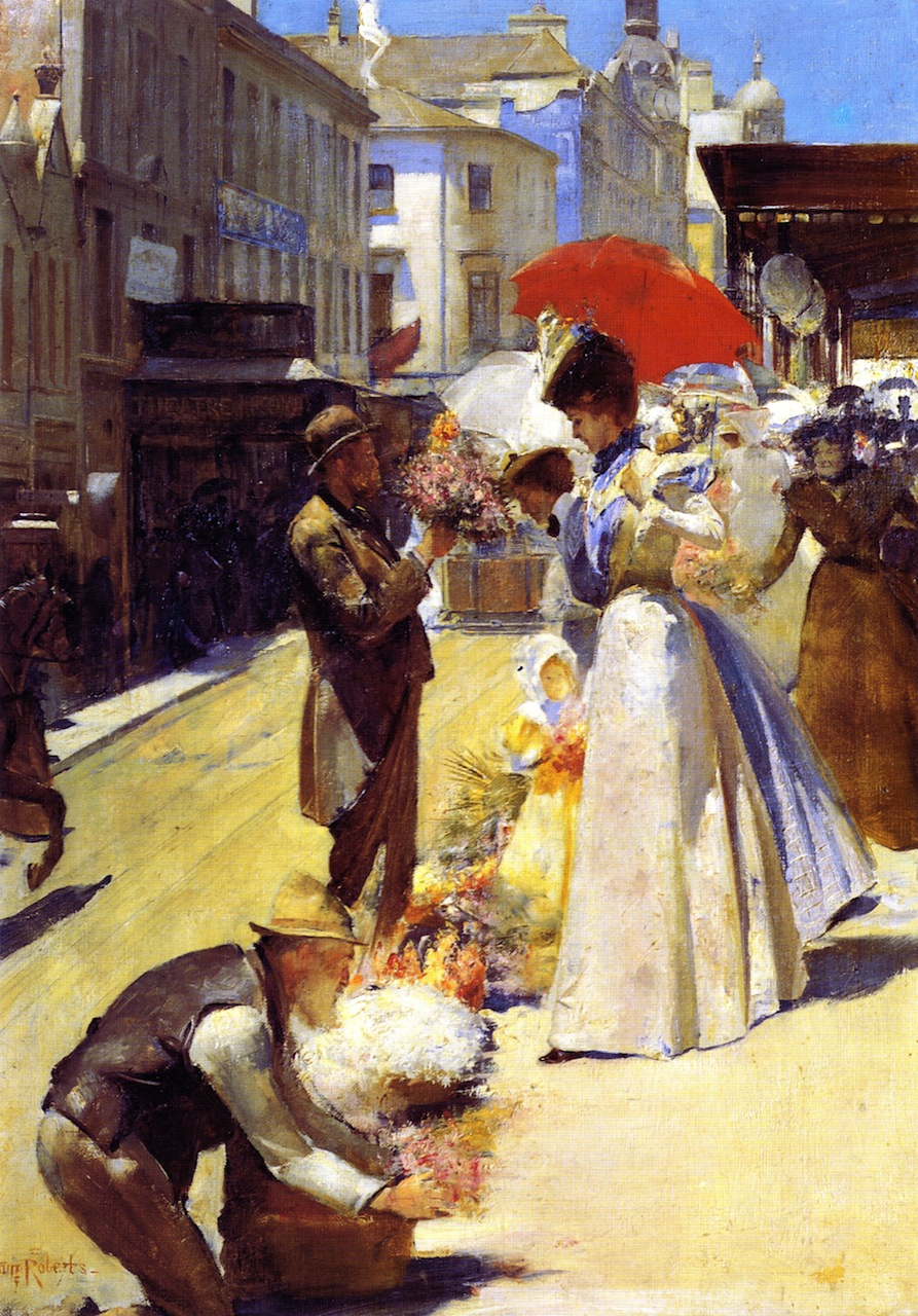 Christmas flowers and christmas belles 1899 tom roberts for Australian mural artists