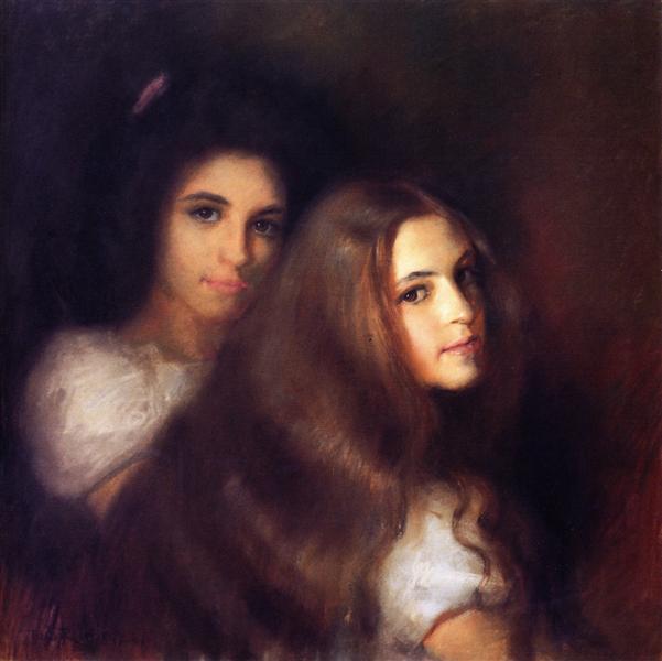 Elizabeh and Carmen Pinschof, 1900 - Tom Roberts