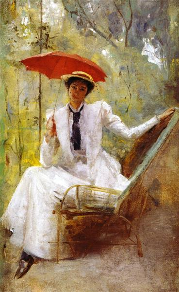 Lady with a Parasol - Tom Roberts