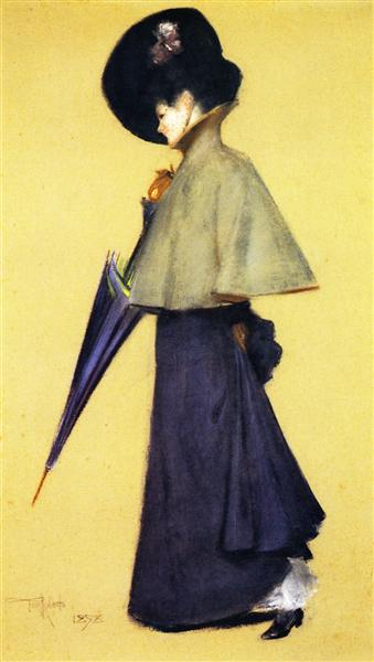 Portrait of a Standing Woman, 1898 - Tom Roberts