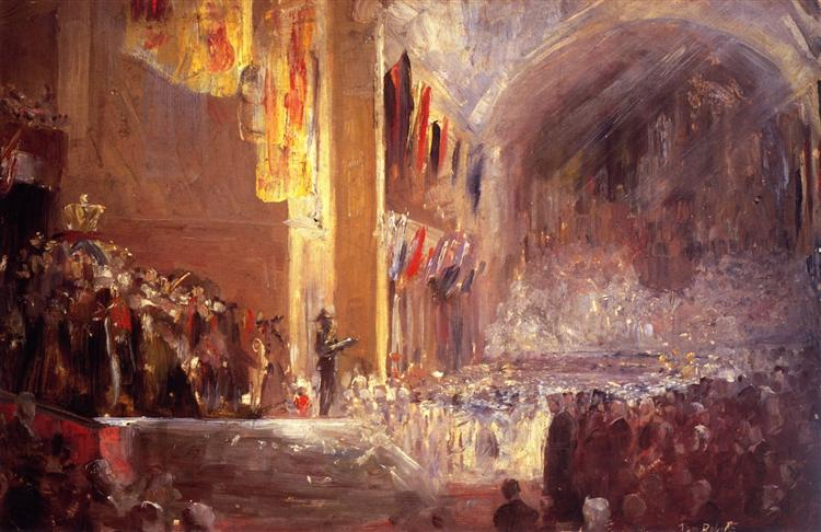 Sketch for the Opening of the First Parliament, 1901 - Tom Roberts