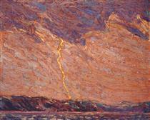 Lightning, Canoe Lake - Tom Thomson