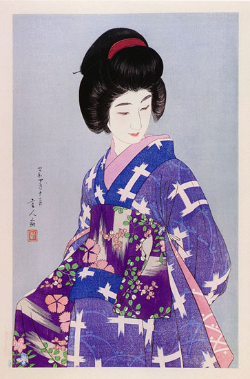 Preparing Her Sash, 1929 - Torii Kotondo