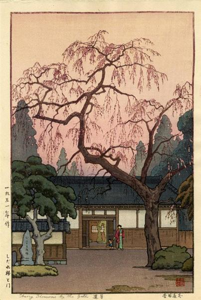 Cherry Blossom by the Gate, 1951 - Toshi Yoshida