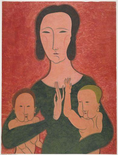 Mother and Two Children, 1917 - Tsuguharu Foujita