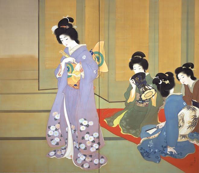 Preparing for Dance, 1914 - Uemura Shoen