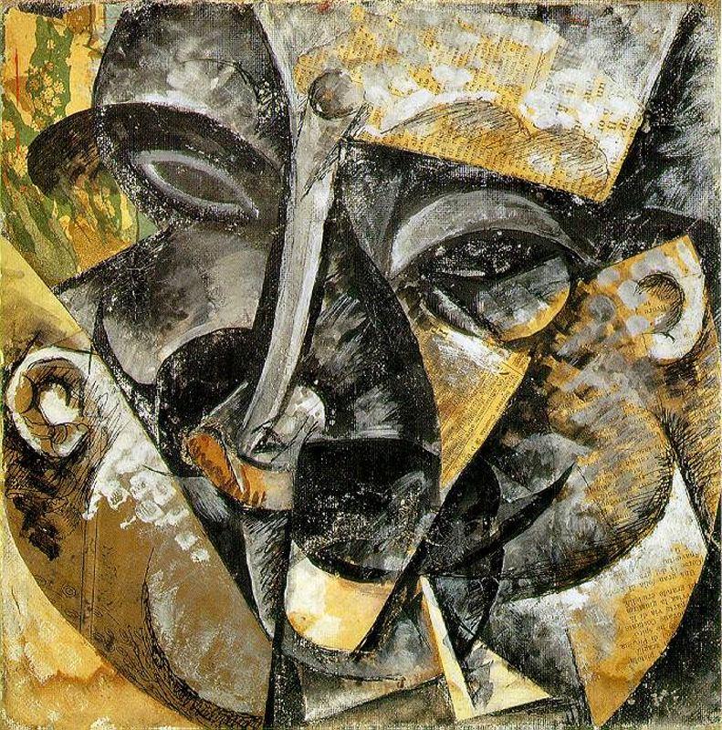 Boccioni Futurism head - Umberto Boccioni
