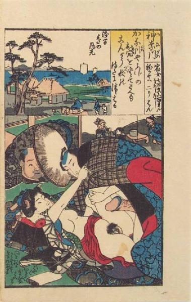 Tokaido 53 Stations, Station #5, Hodogaya, c.1835 - Utagawa Kunisada