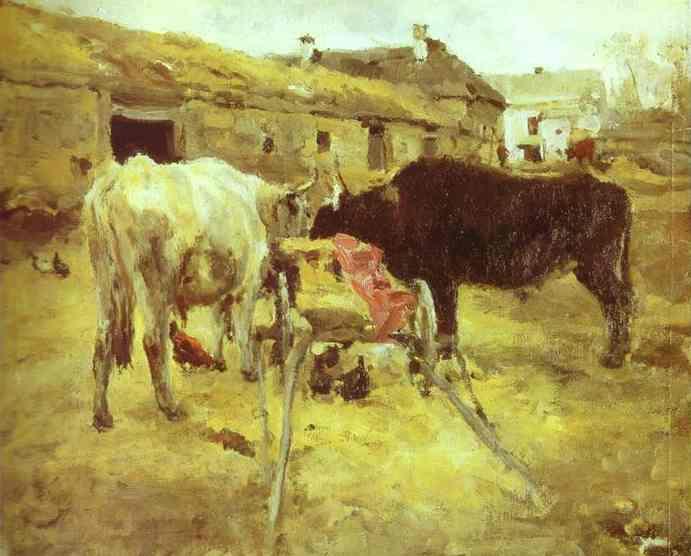 Bullocks, 1885 - Valentin Serov
