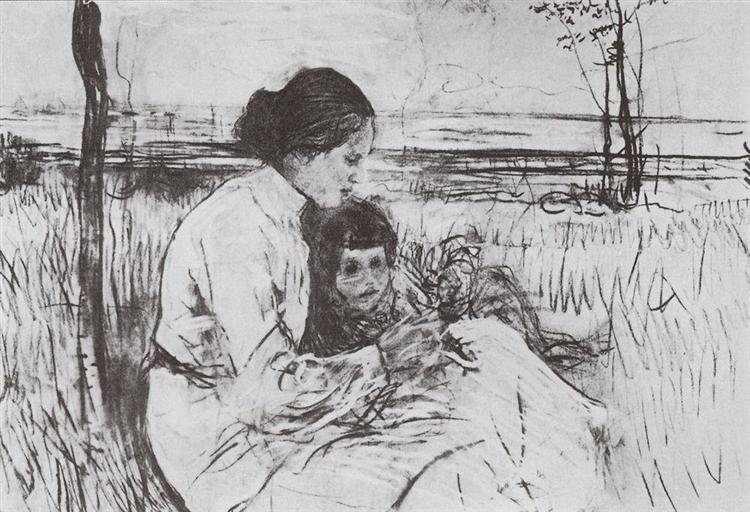 Children of the artist. Olga and Anton Serov, 1906 - Valentin Serov