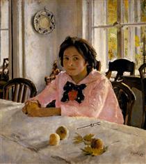 Girl with Peaches - Valentin Serov
