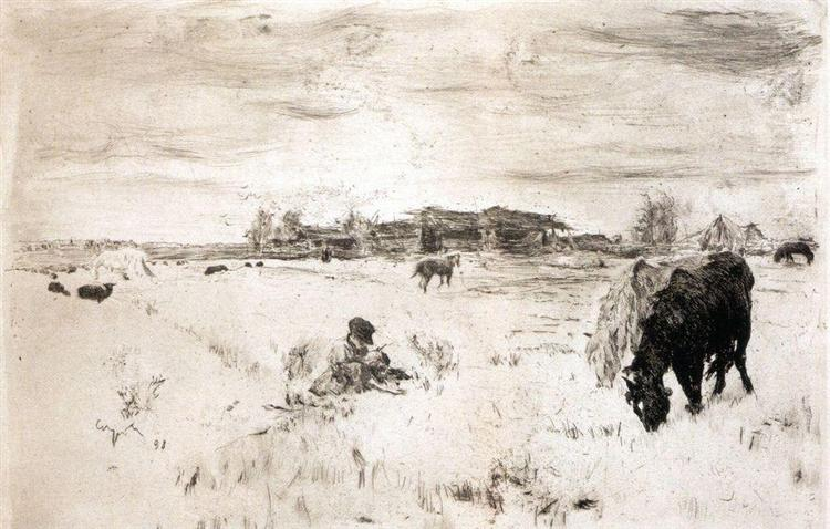 October, 1898 - Valentin Serov