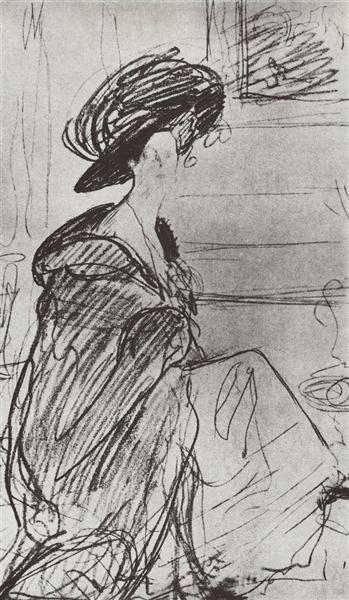 Portrait of a princess Olga Orlova, 1910 - Valentin Serov