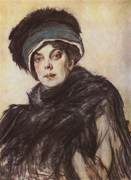 Portrait of a princess Olga Orlova, 1911 - Valentin Serov