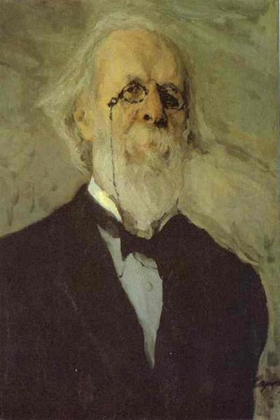 Portrait of Dmitry Stasov, 1908 - Walentin Alexandrowitsch Serow