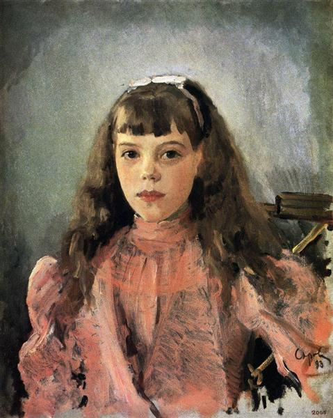 Portrait of Grand Duchess Olga Alexandrovna, 1893 - Valentin Serov