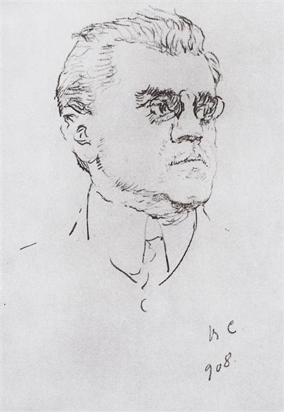 Portrait of I.M. Moskvitin, 1908 - Valentin Serov