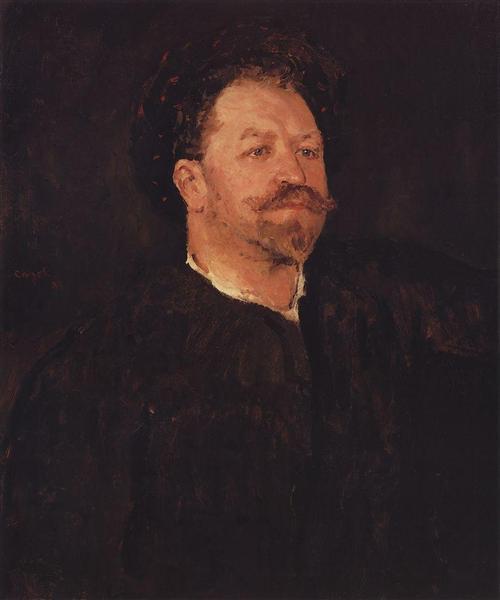 Portrait of Italian singer Francesco Tamano, 1891 - 1893 - Valentin Serov