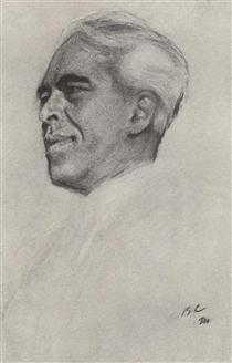 Portrait of Konstantin Stanislavski - Valentin Serov