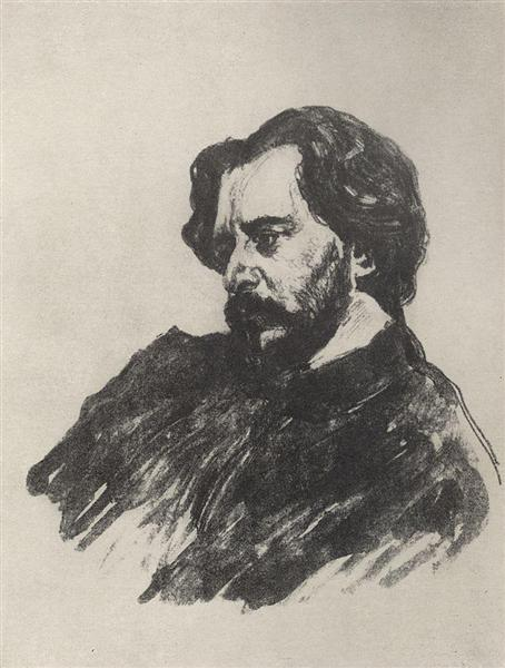 Portrait of L.N. Andreev, 1907 - Valentin Serov