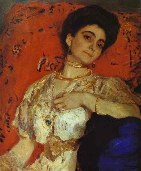 Portrait of Maria Akimova, 1908 - Valentin Serov
