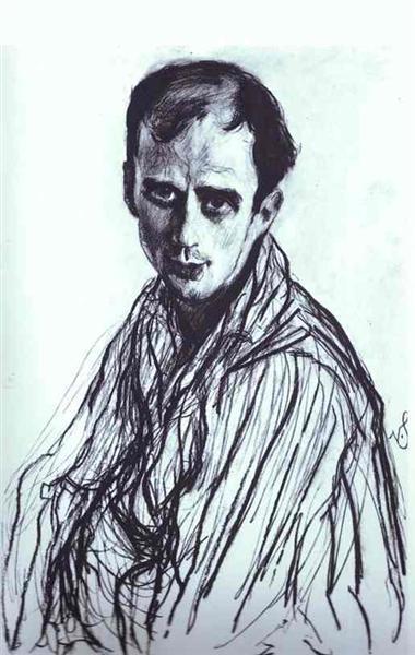 Portrait of Mikhail Fokin, 1909 - Valentin Serov