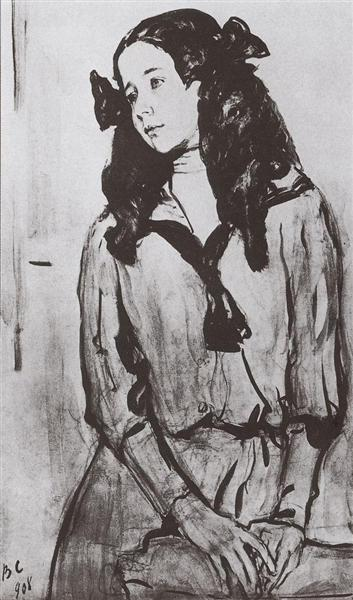 Portrait of N.Z. Rappoport, 1908 - Valentin Serov