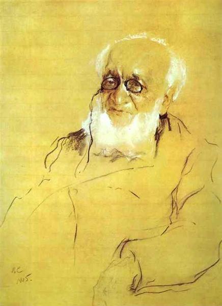 Portrait of P. Semenov-Tien-Shansky, 1905 - Valentin Serov