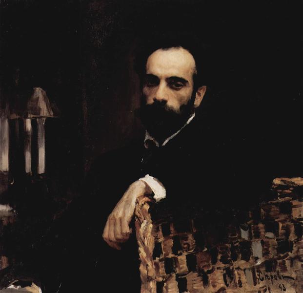 Portrait of the artist Isaak Ilyich Levitan, 1893 - Valentin Serov