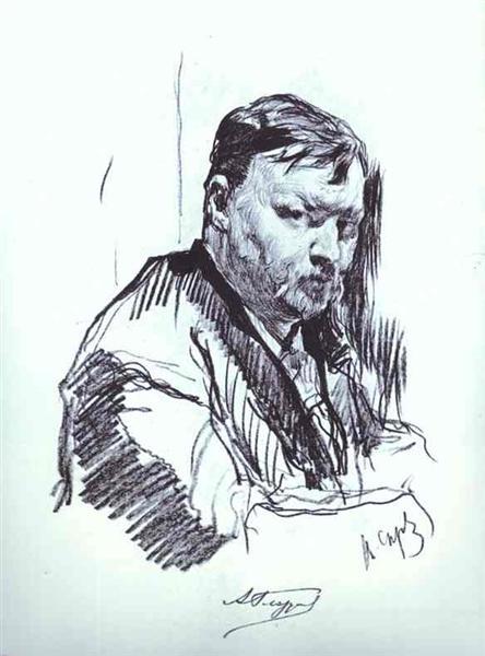 Portrait of the Composer Alexander Glazunov, 1899 - Valentin Serov