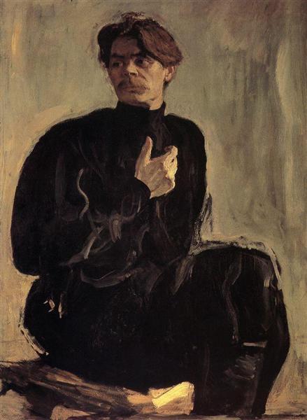 Portrait of the Writer Maxim Gorky, 1905 - Valentin Serov