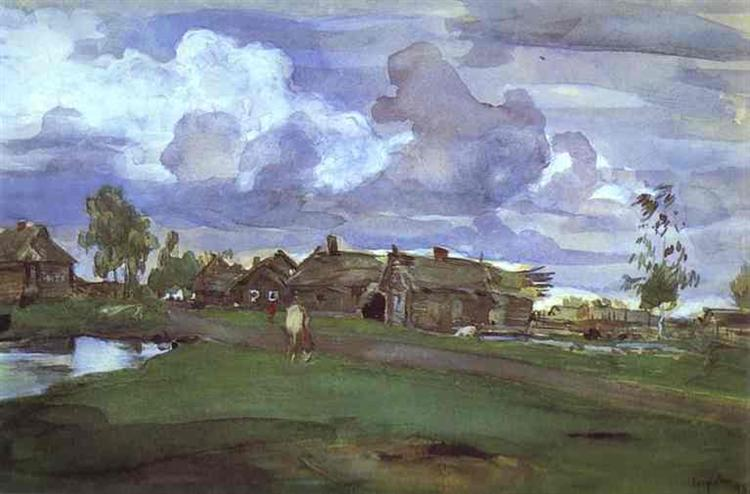 Village, 1898 - Walentin Alexandrowitsch Serow