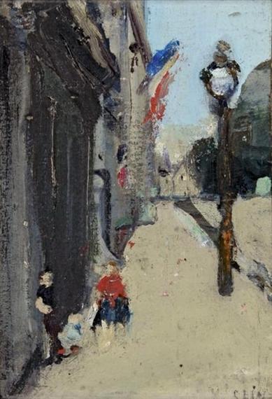 Strasse in Paris - Varlin