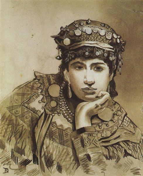 Черногорская девушка, 1876 - Василий Поленов