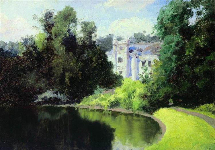 Pond in the Park. Olshanka., 1877 - Vasily Polenov