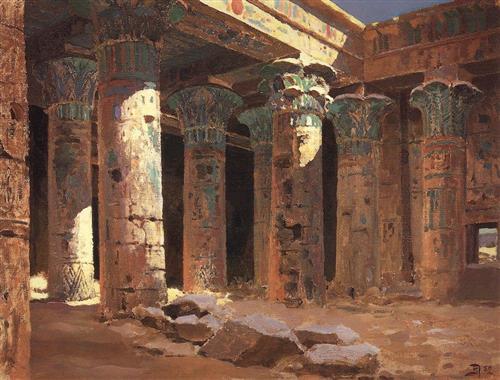 The Temple of Isis on Philae island - Vasily Polenov