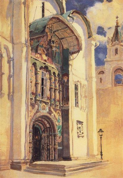 The Uspensky Cathedral. South Gates., 1877 - Vasily Polenov