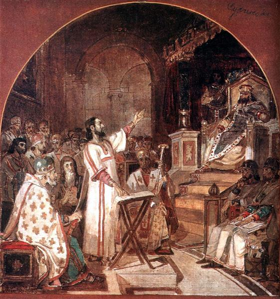 First Ecumenical Council of Nicaea, 1876 - Wassili Iwanowitsch Surikow