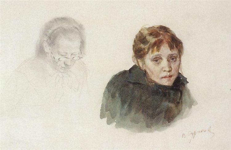Head of girl - Vasily Surikov