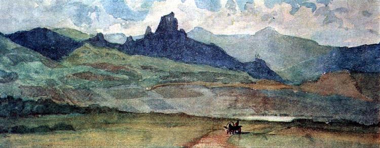 Minusinsk steppe, 1873 - 瓦西里·伊万诺维奇·苏里科夫