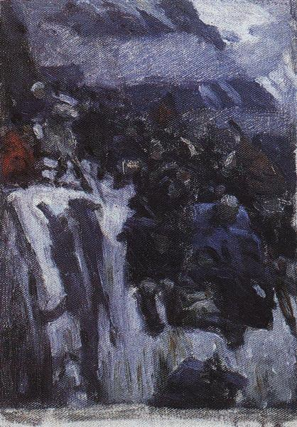 Russian Troops under Suvorov Crossing the Alps (study), 1899 - Vasily Surikov
