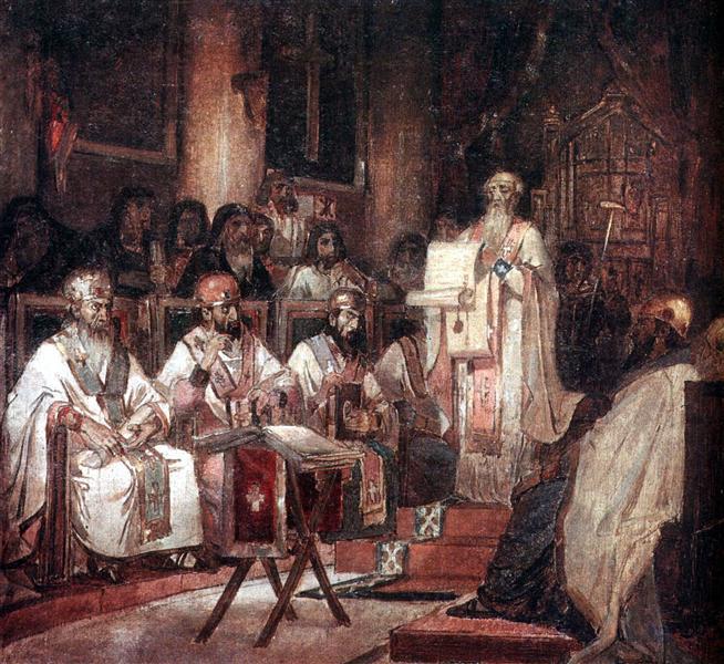 Second Ecumenical Council of Constantinople, 1876 - Vasily Surikov